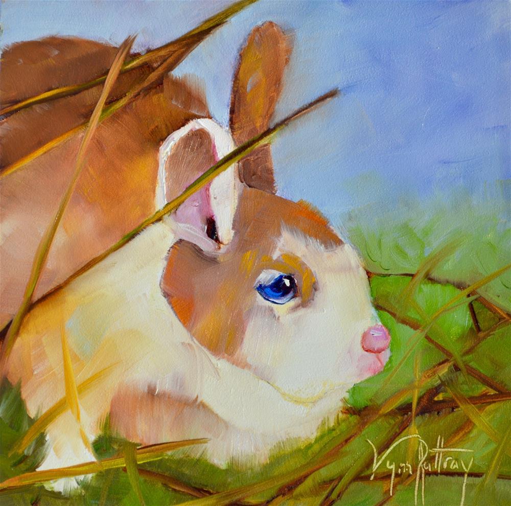 """Can't Find Me!"" original fine art by Lynn Rattray"