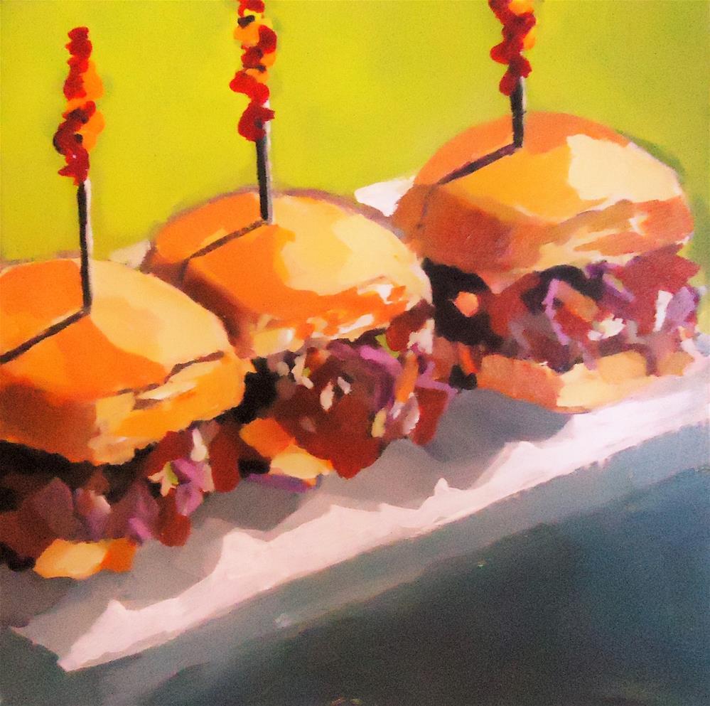 """""""Sliders"""" original fine art by Laurie Mueller"""