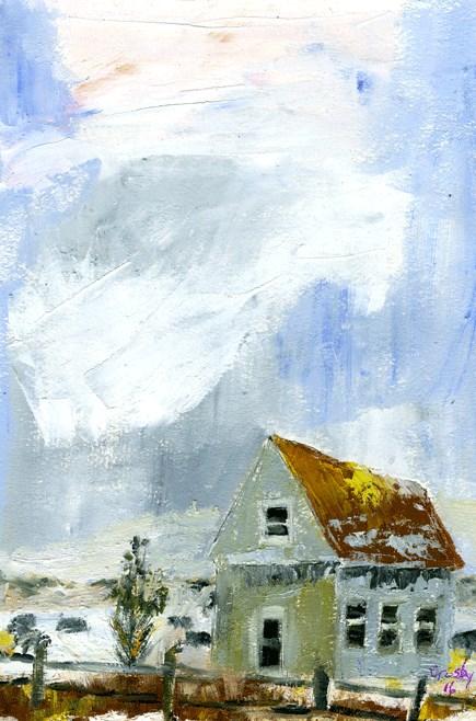 """""""Winter's Chill"""" original fine art by Donna Crosby"""