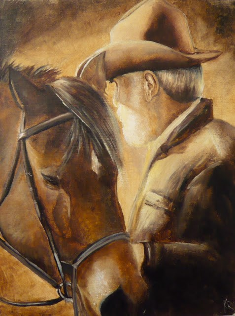 """Best of friends"" original fine art by Karen Robinson"