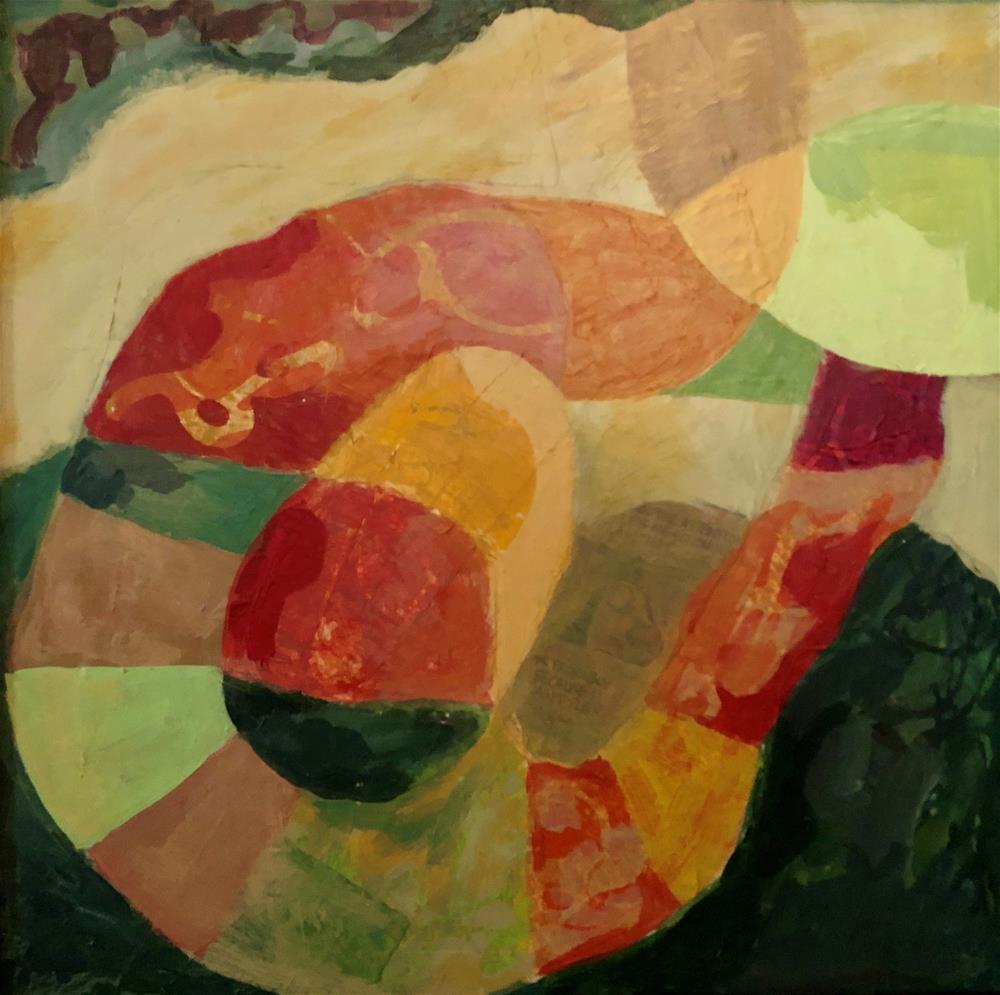 """Batter Up"" original fine art by Priscilla Bohlen"