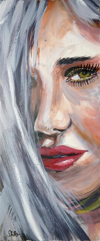 """""""3086 Smartface 02"""" original fine art by Dietmar Stiller"""