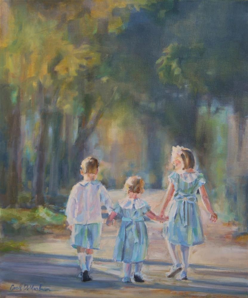 """Children in Landscape Portrait Commission"" original fine art by Carol DeMumbrum"