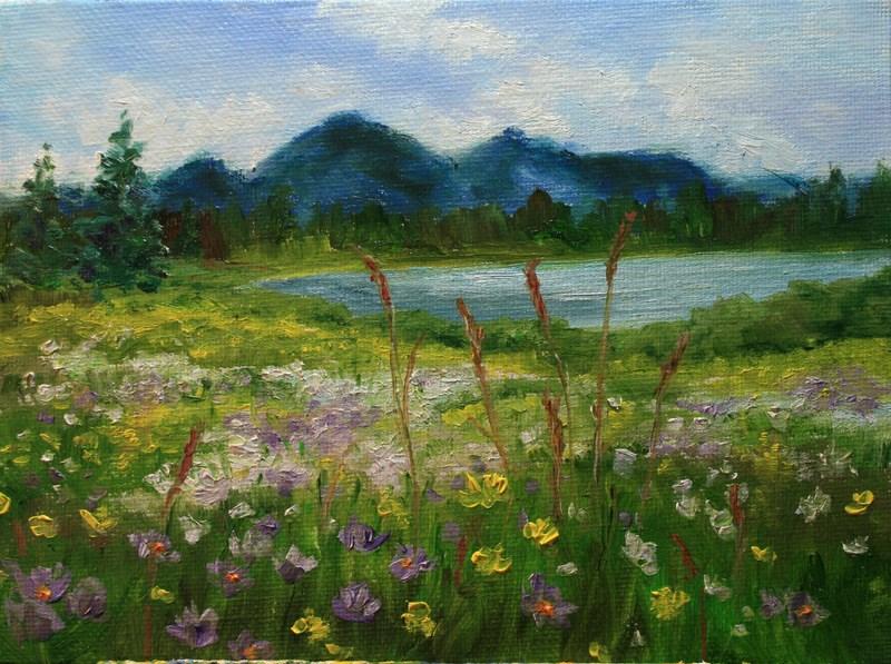 """""""Summer Wildflowers"""" original fine art by Jean Nelson"""