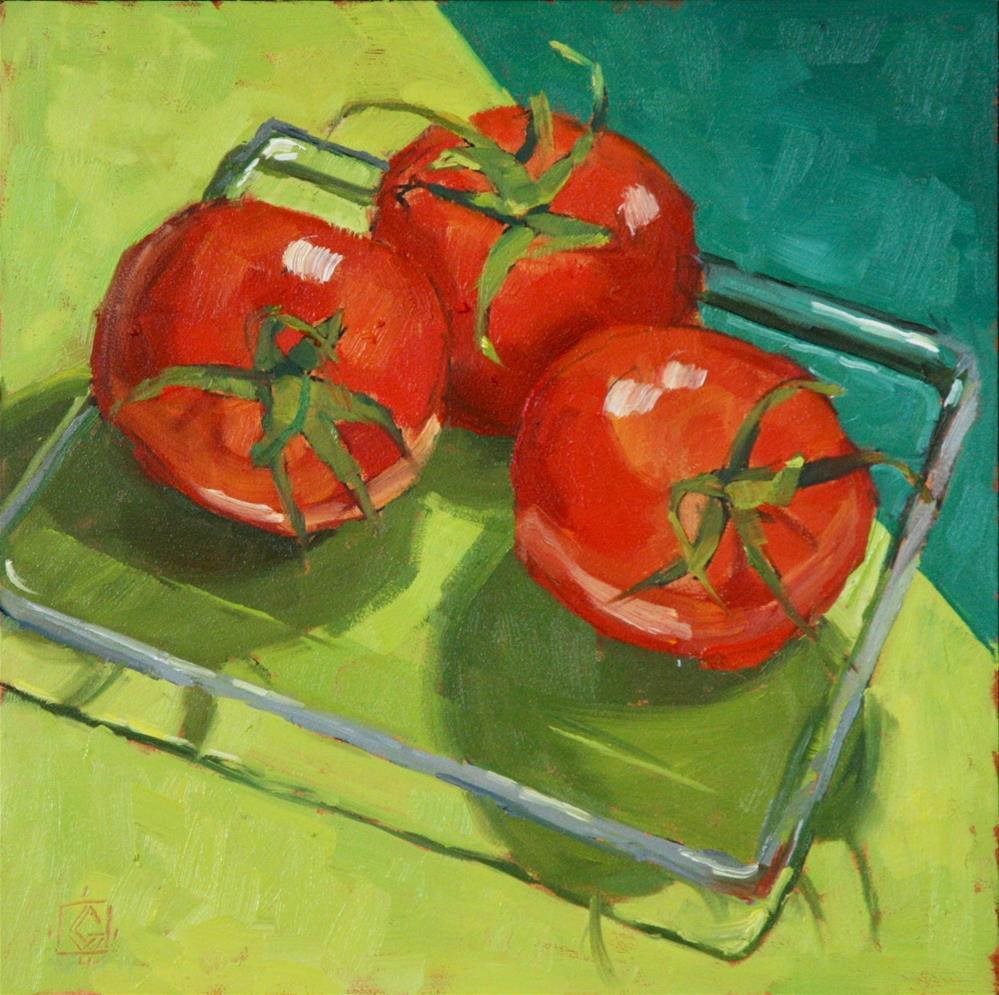 """Birthday Tomatoes"" original fine art by Carol Granger"