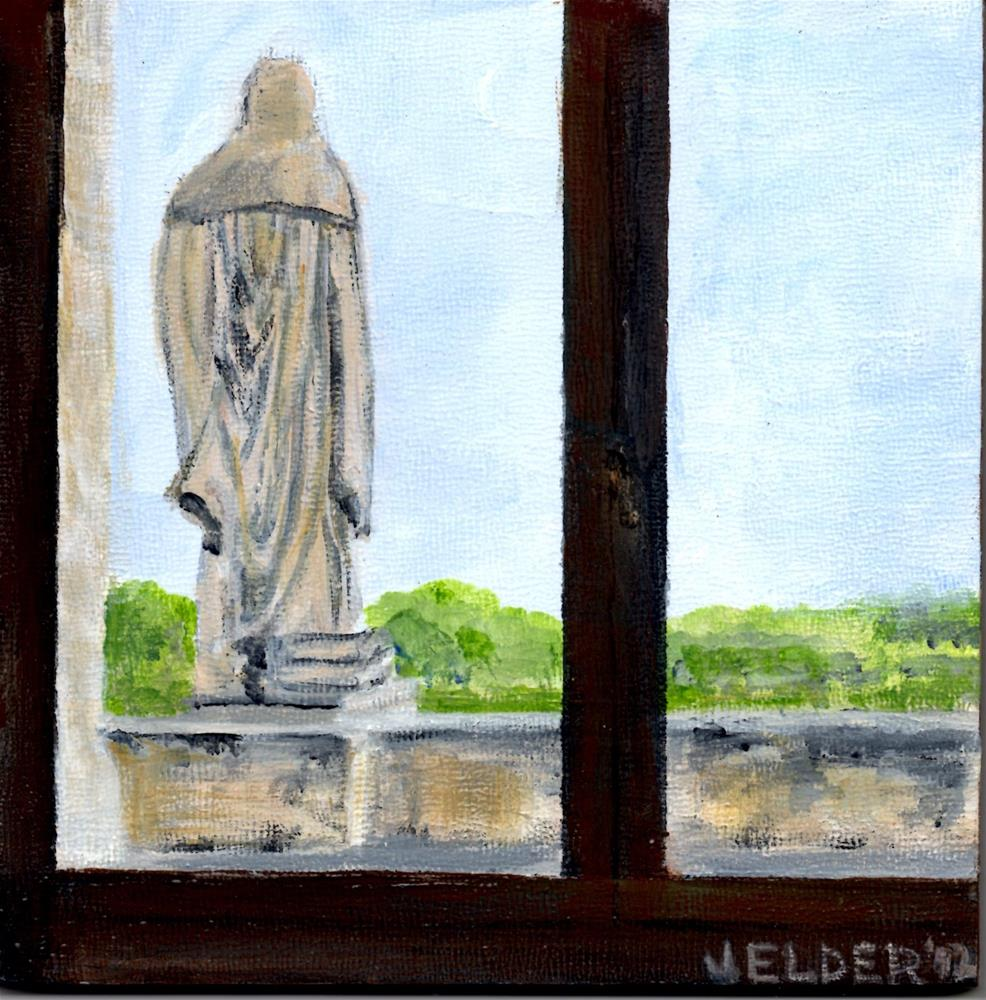 """Louvre No. 1"" original fine art by Judith Elder"