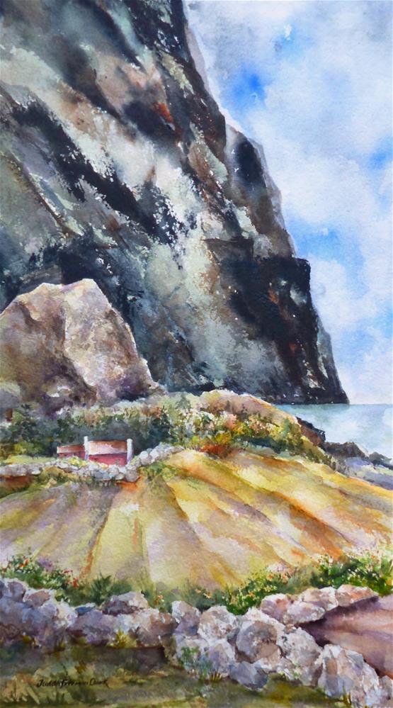 """Autumn on the Fjord"" original fine art by Judith Freeman Clark"