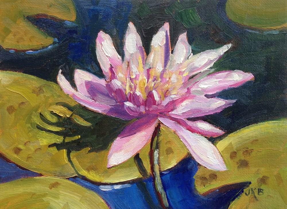 """""""Water Lily Study"""" original fine art by Jeanne Bruneau"""