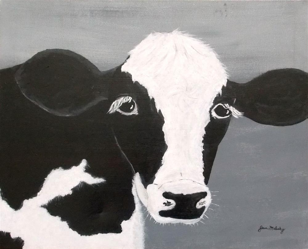 """Holstein Heifer"" original fine art by Jan Molesky"