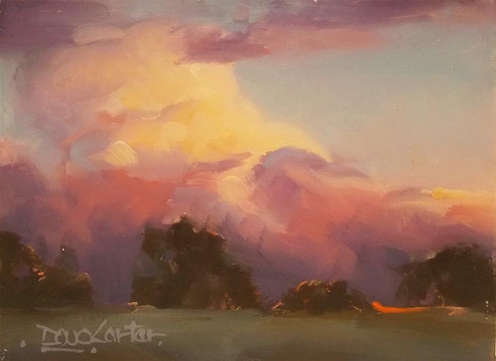 """ Glowing Sky Clouds "" original fine art by Doug Carter"