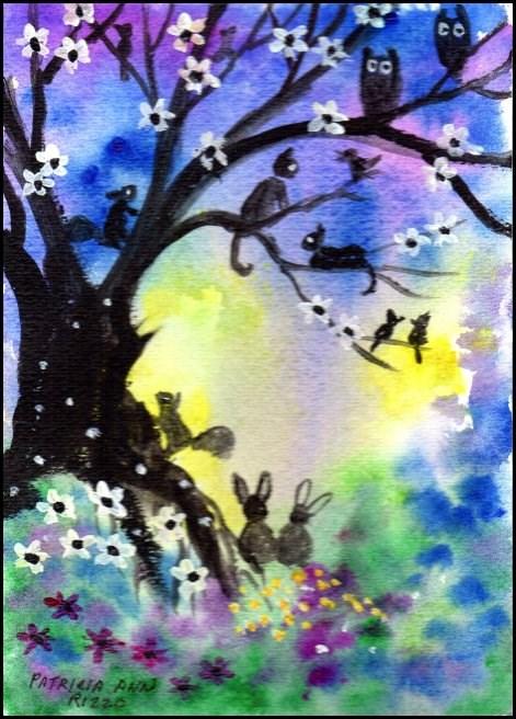 """NFAC Magic Tree 2"" original fine art by Patricia Ann Rizzo"