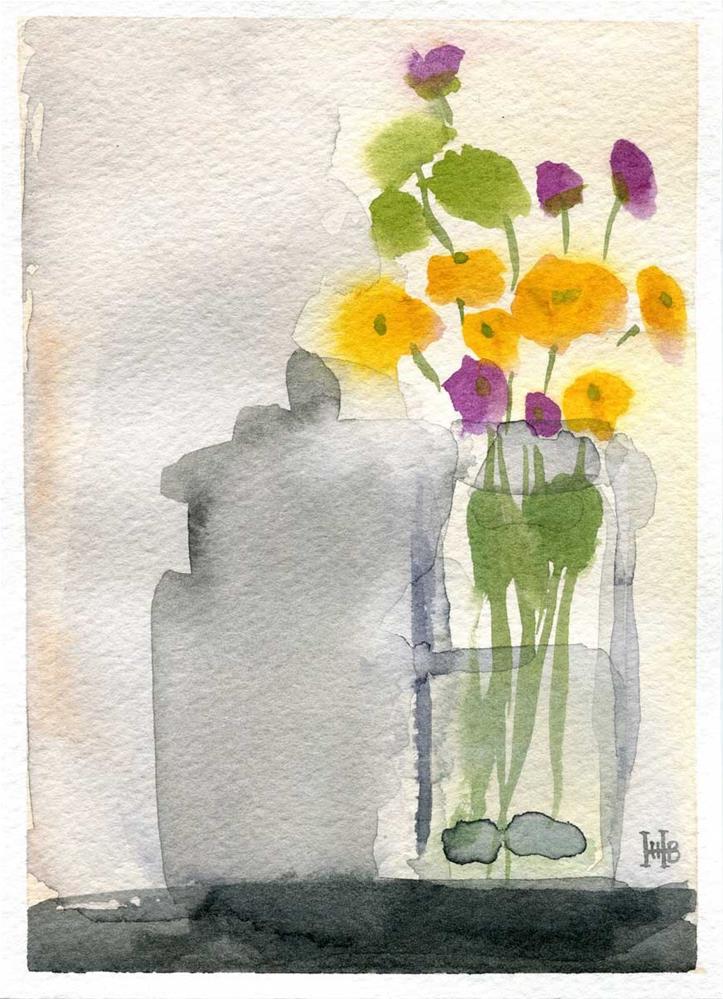 """Bitty Buds"" original fine art by Heather Bennett"