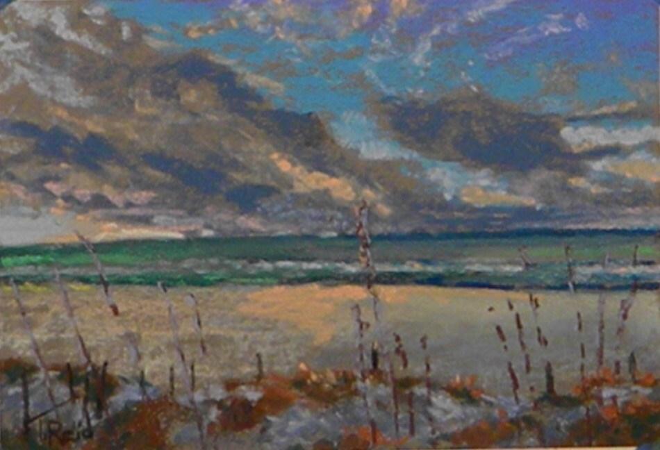 """Distant Clouds"" original fine art by Toby Reid"