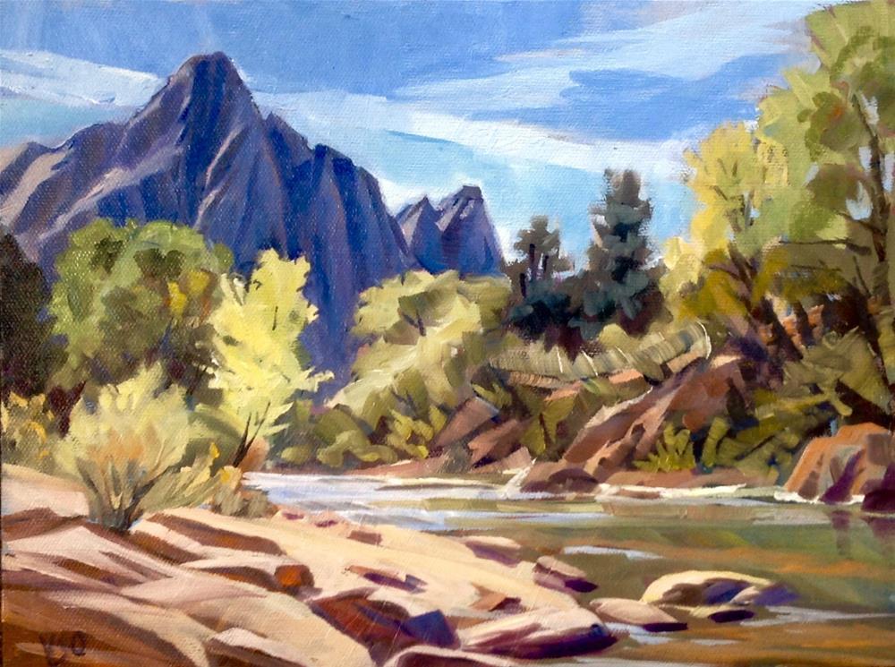 """""""The Watchman (Zion)"""" original fine art by Valerie Orlemann"""
