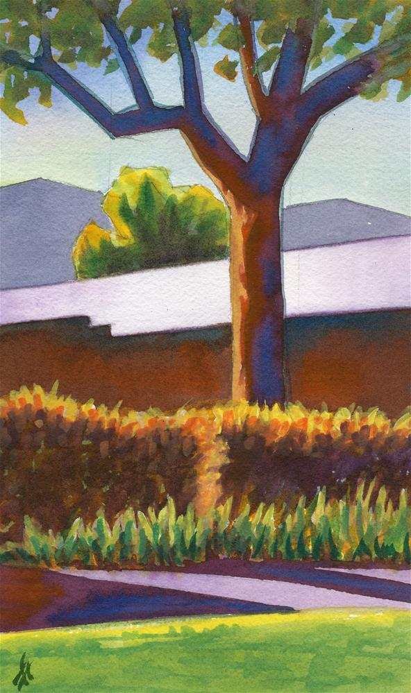 """Tree in the Churchyard"" original fine art by Mark Allison"