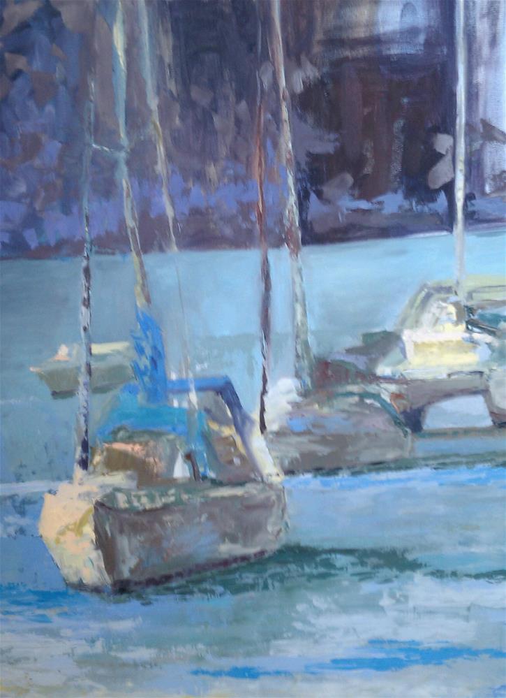 """""""Moonlight Serenade"""" original fine art by Angela Hansen"""