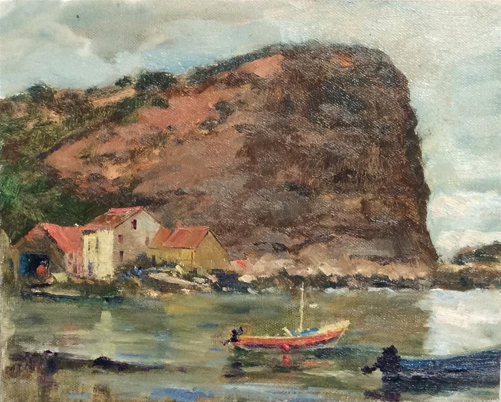 """""""Across the Bay...Staithes"""" original fine art by John Shave"""