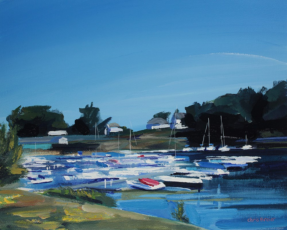 """Boats at Newfane Marina"" original fine art by Chris Breier"