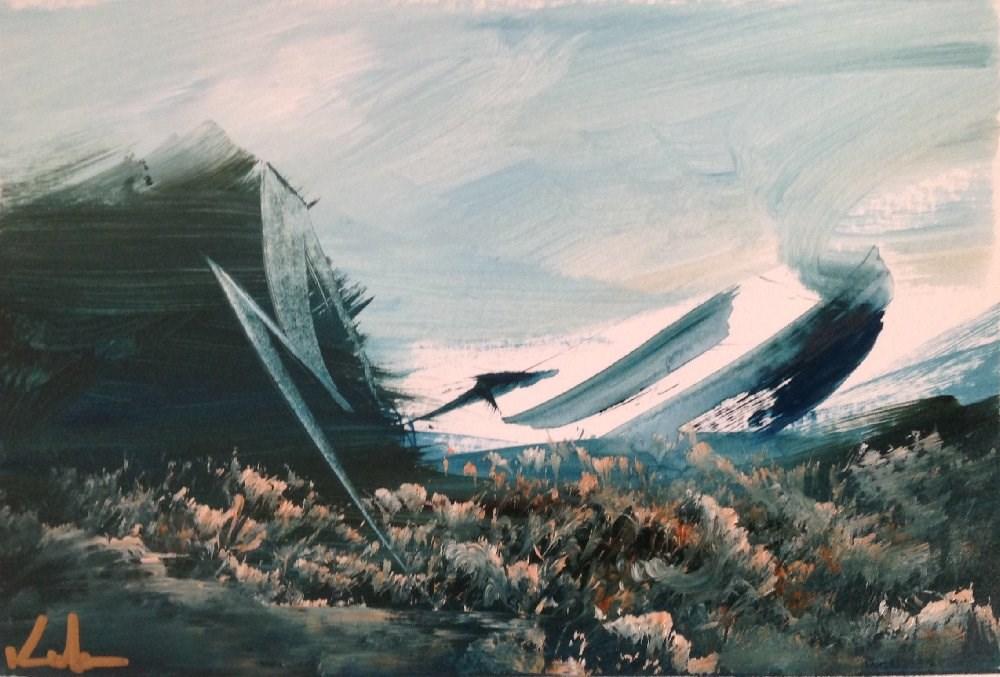"""Spur of Life"" original fine art by David Kuhn"