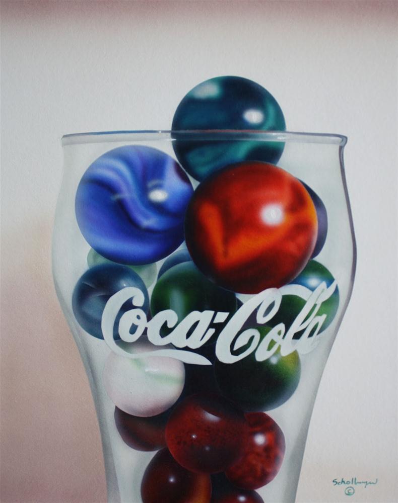 """""""Marbles # 16"""" original fine art by Fred Schollmeyer"""