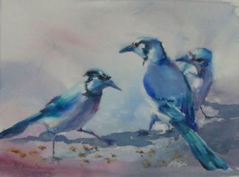 """Committee Meeting"" original fine art by Dianne Mize"