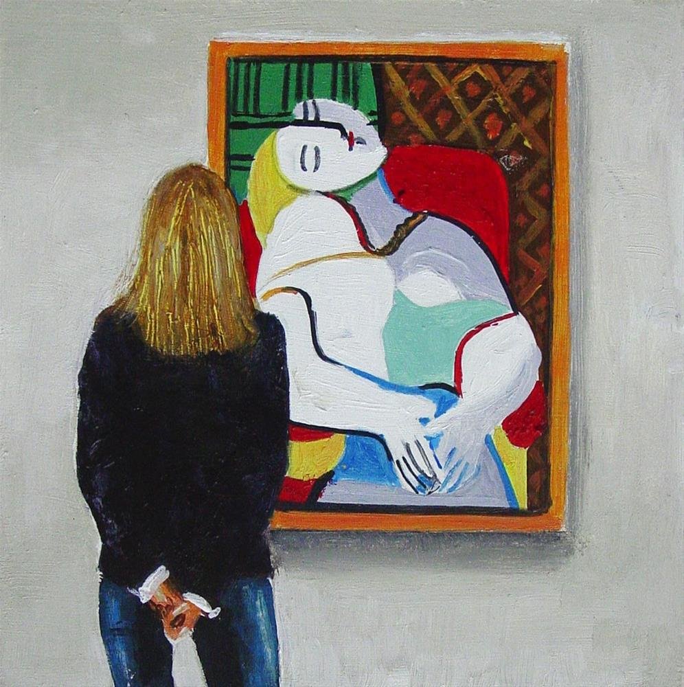 """""""Le Rêve- Painting Of A Woman Enjoying Painting By Picasso"""" original fine art by Gerard Boersma"""