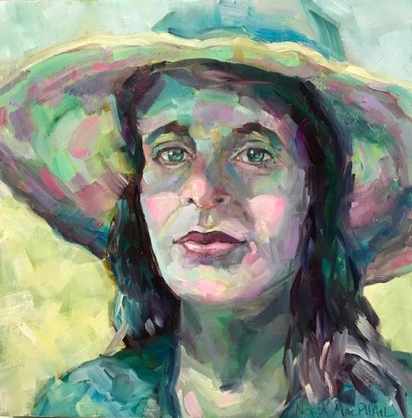 """""""sunhat shadows"""" original fine art by Nora MacPhail"""