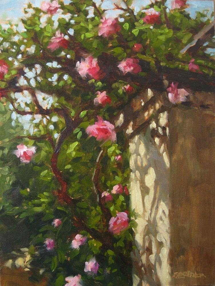 """Rose Arbor"" original fine art by Karen Werner"