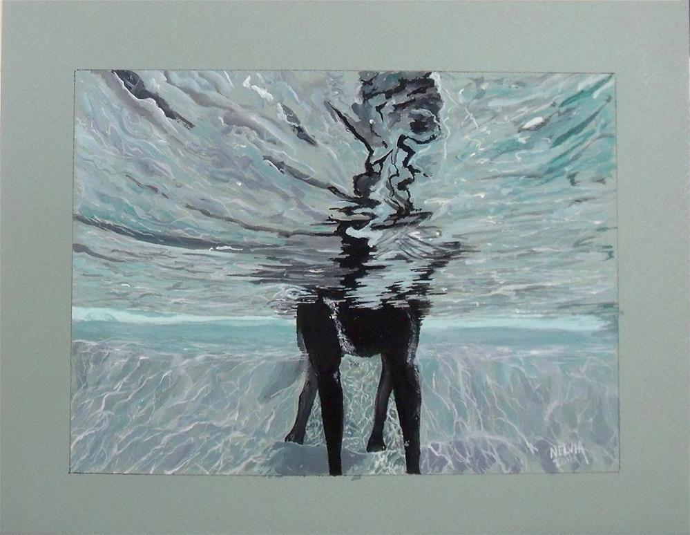 """Up Side Dog"" original fine art by Nelvia McGrath"