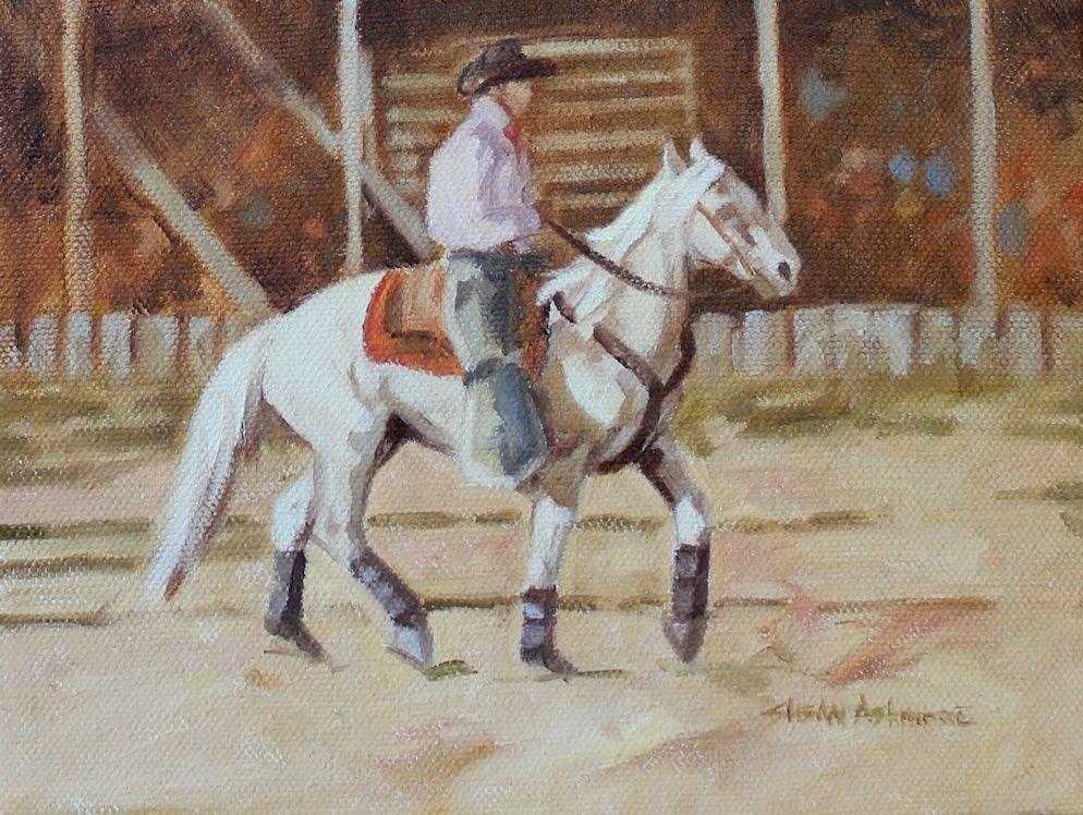 """Lightfoot"" original fine art by Susan Ashmore"
