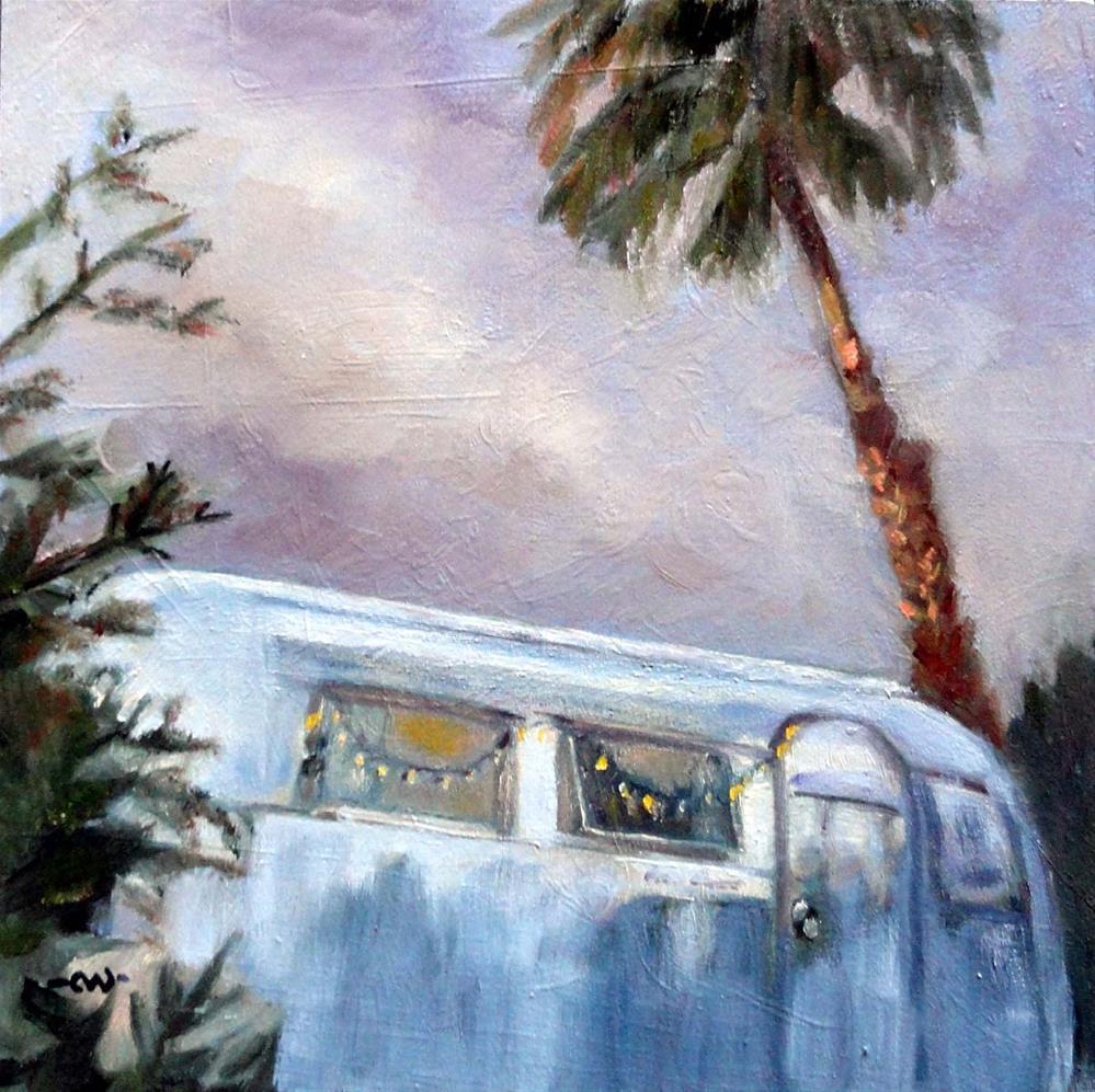 """""""Desert Oasis"""" original fine art by Cietha Wilson"""