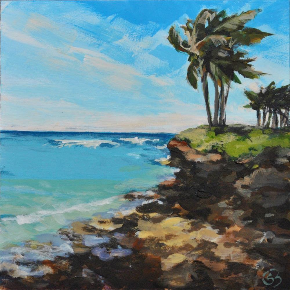 """Turtle Bay Surf"" original fine art by Shari Buelt"