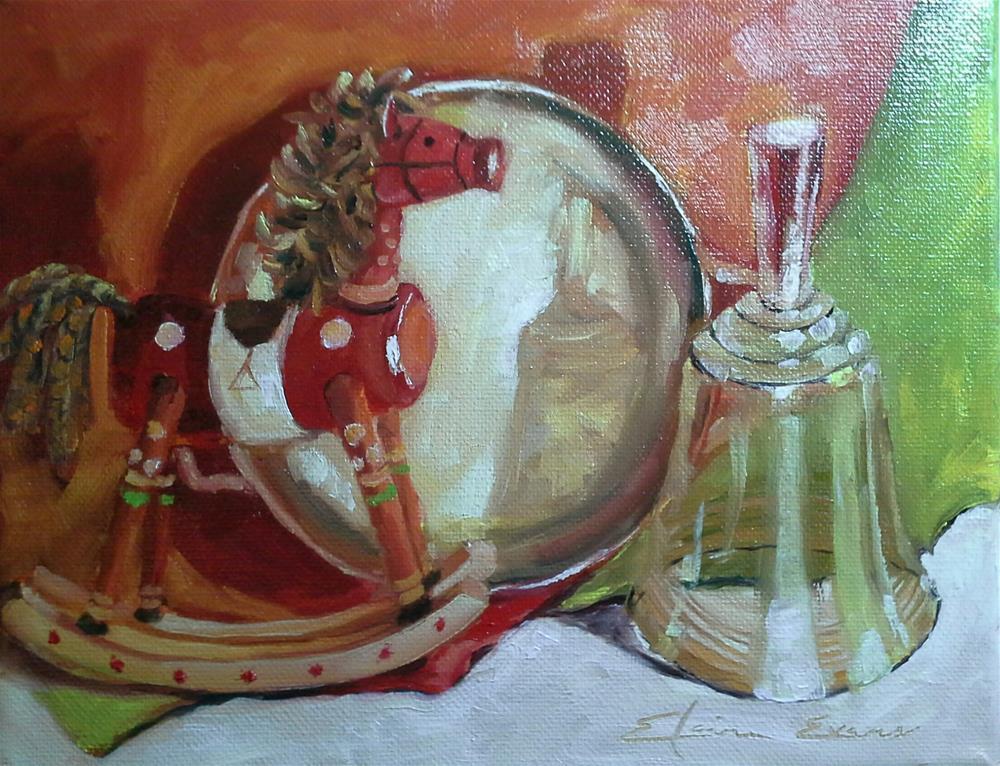 """Silver and Bells"" original fine art by Elaine Evans"