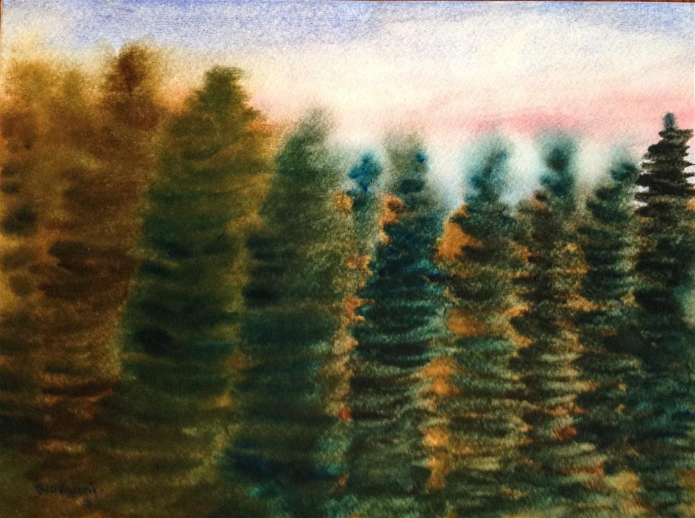 """Pine trees colors changing?"" original fine art by Giovanni Antunez"