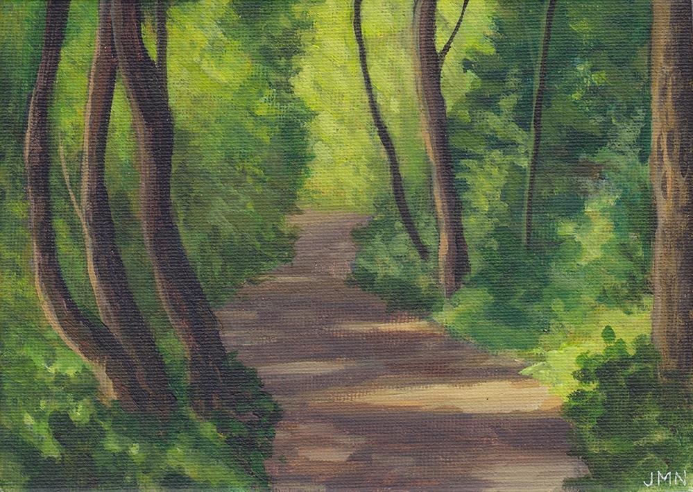 """Woodland Light"" original fine art by J M Needham"