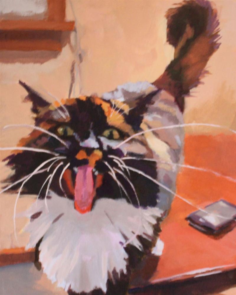 """A Little Defensive"" original fine art by Kaethe Bealer"