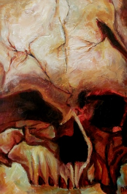 """""""Cro-Magnon"""" original fine art by ~ces~ Christine E. S. Code"""