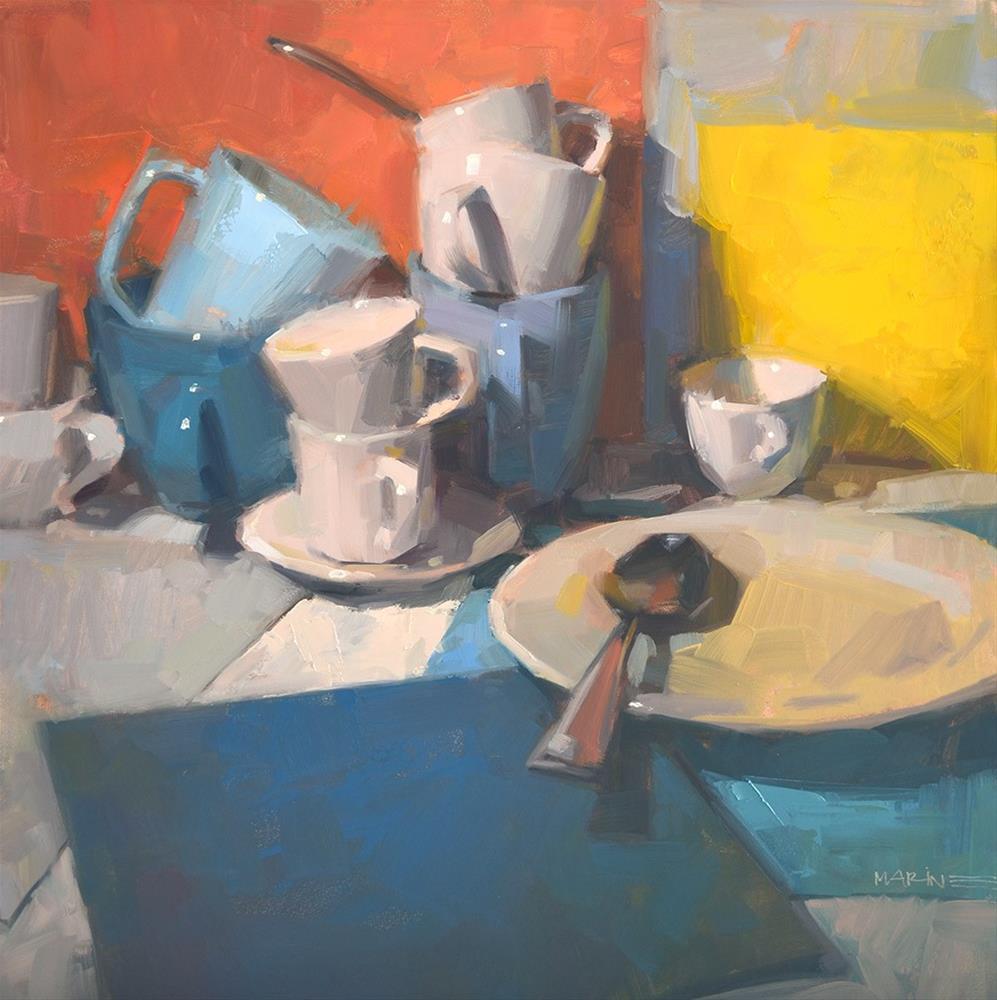 """Extra Spoon"" original fine art by Carol Marine"