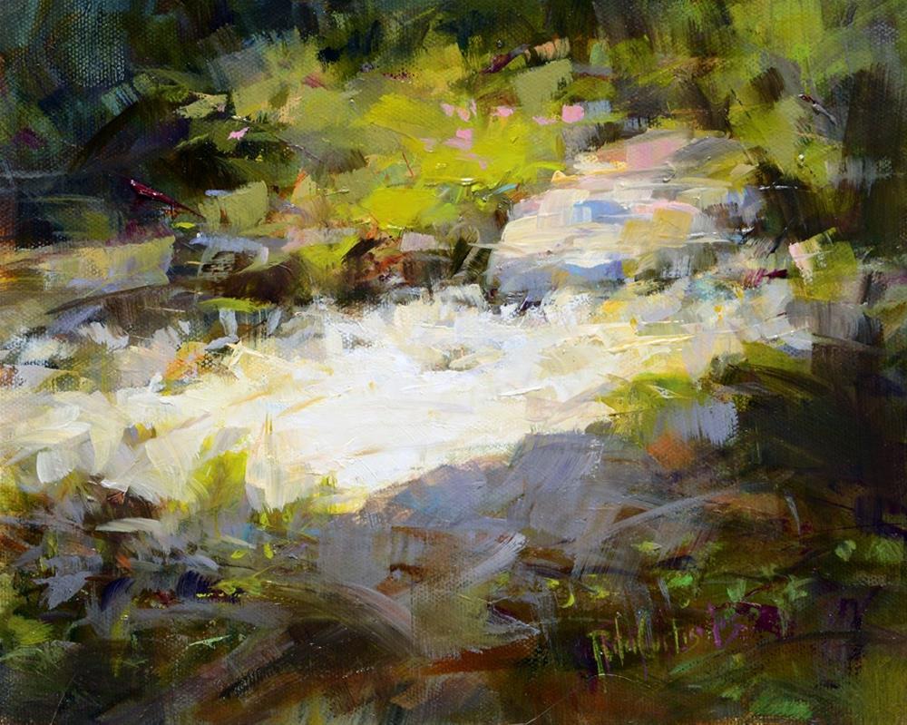 """""""Rushing Water"""" original fine art by Rita Curtis"""