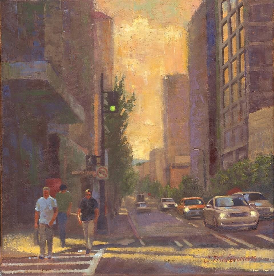 """City Afternoon"" original fine art by Connie McLennan"