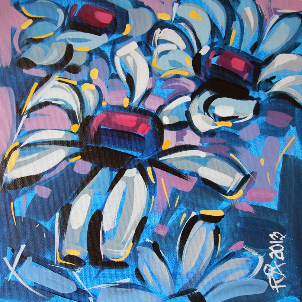 """Flower abstraction 51"" original fine art by Roger Akesson"