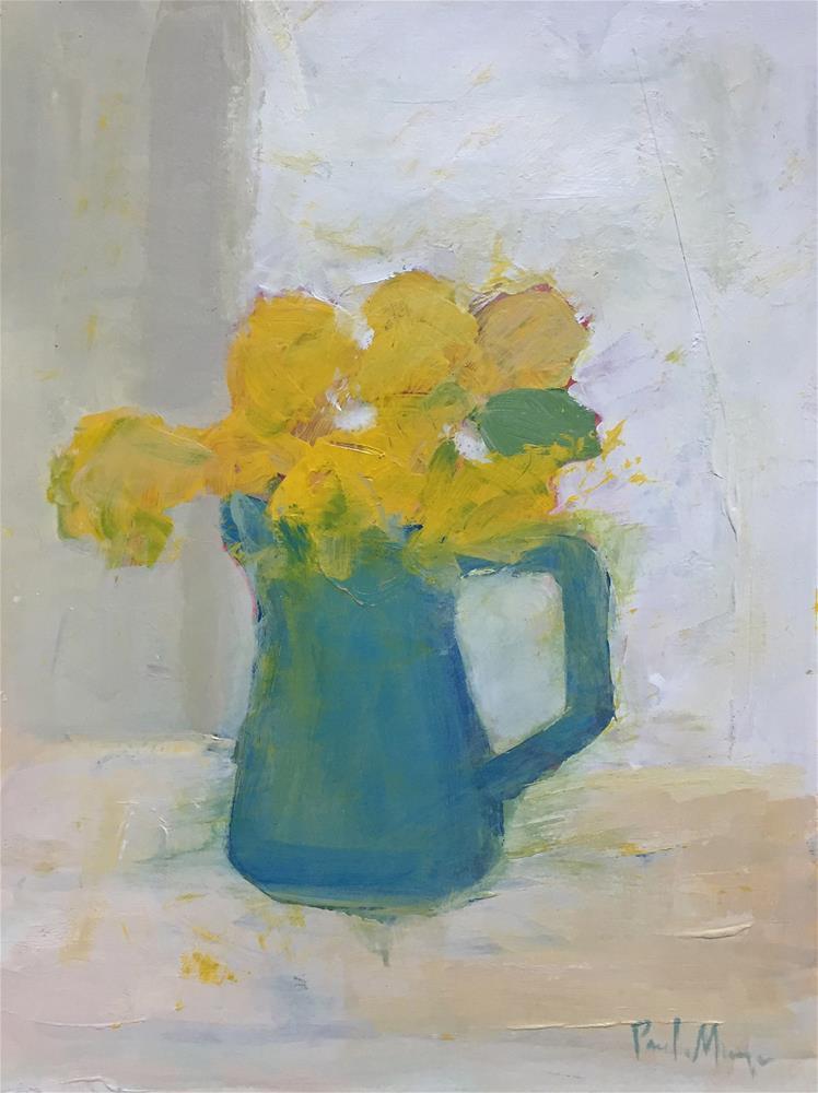 """""""pitcher of yellow"""" original fine art by Pamela Munger"""