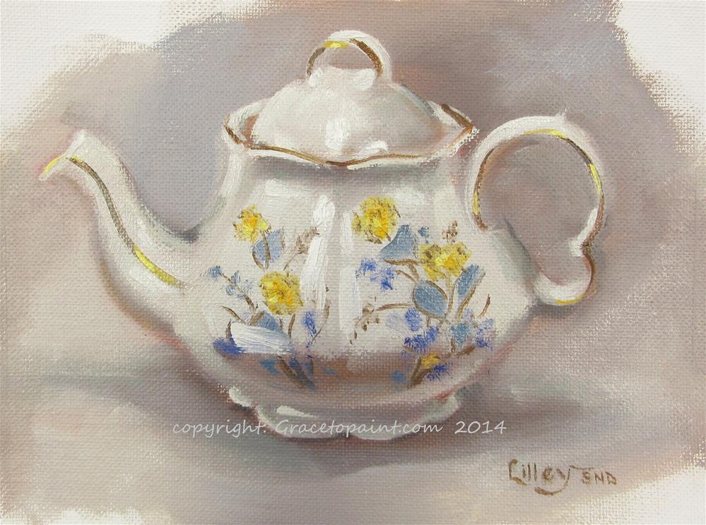 """""""Marie's Teapot"""" original fine art by Maresa Lilley"""
