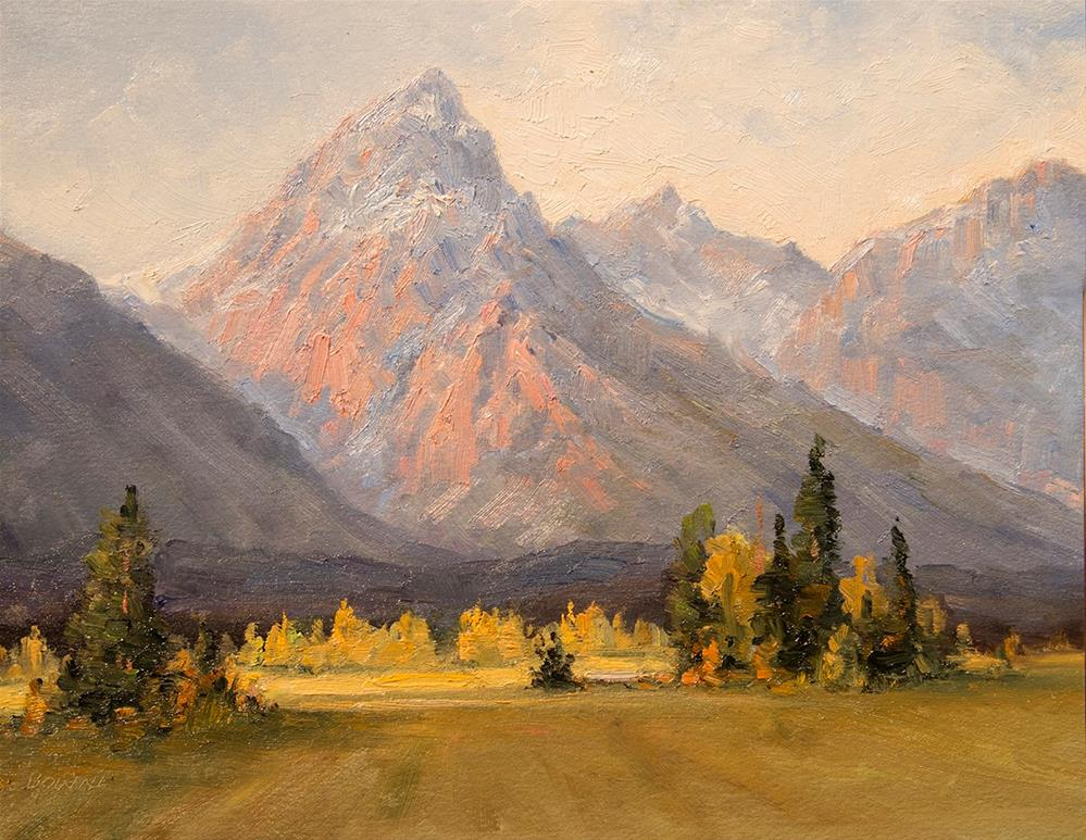 """""""Late Afternoon in the Tetons"""" original fine art by Bonnie Bowne"""