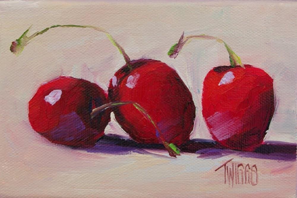 """Pop Of Red"" original fine art by Lori Twiggs"