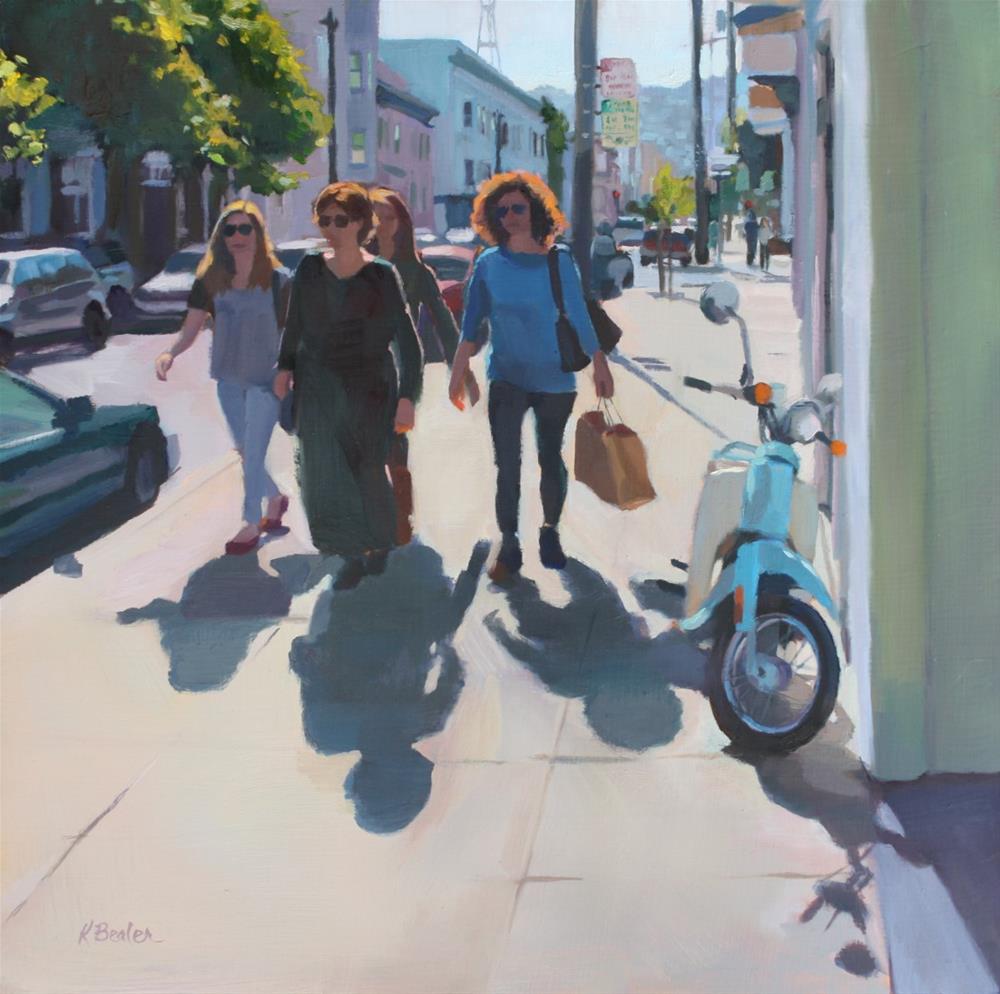 """The Shoppers"" original fine art by Kaethe Bealer"