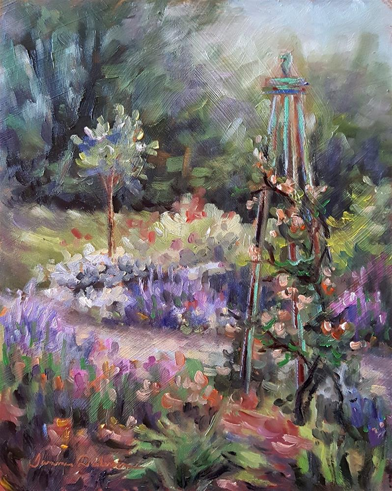 """""""Lavender and Roses"""" original fine art by Tammie Dickerson"""