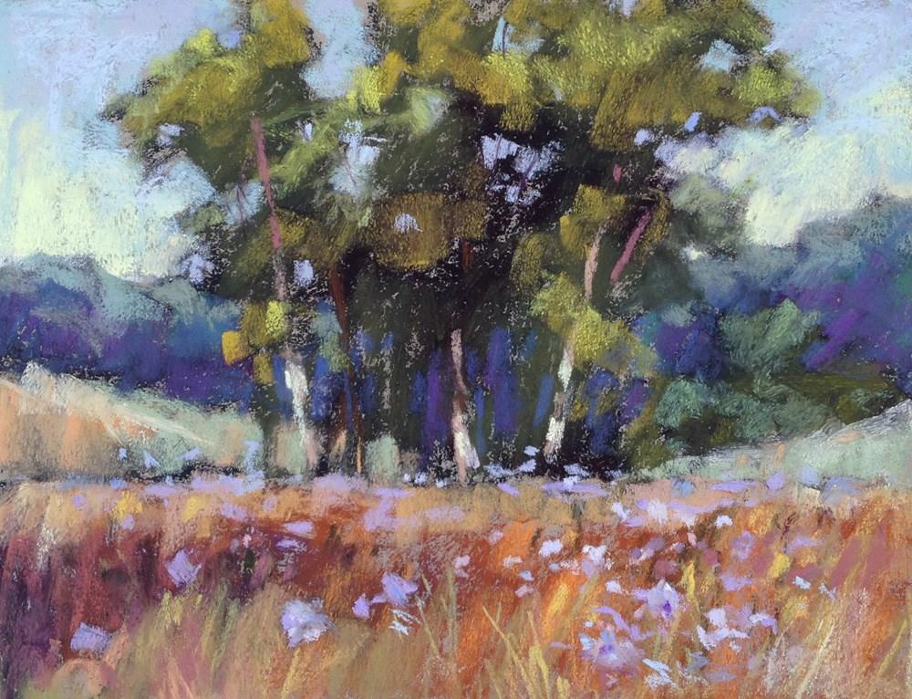 """Watching the Chicory Grow"" original fine art by Jeanne Bruneau"