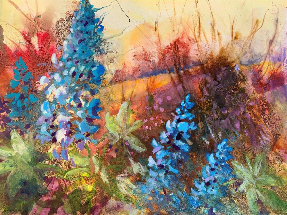 """""""Lupine Fantasy"""" original fine art by Melissa Gannon"""