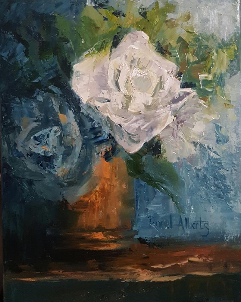 """TRUE BLUE  2"" original fine art by Ronel Alberts"